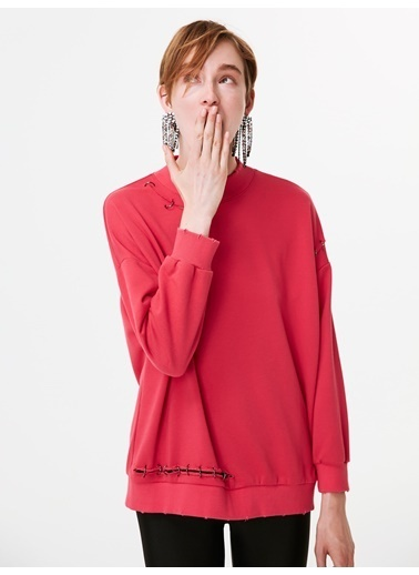 Twist Sweatshirt Pembe